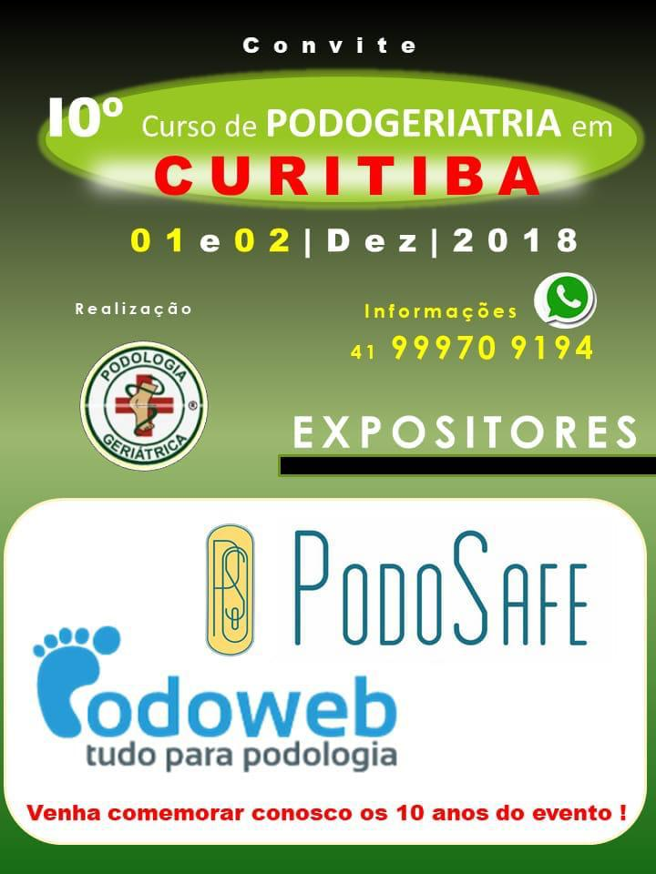 10º CURSO DE PODOGERIATRIA EM CURITIBA